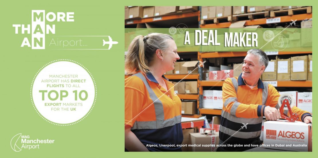 Algeos Featured in Manchester Airport Campaign Showcasing the North