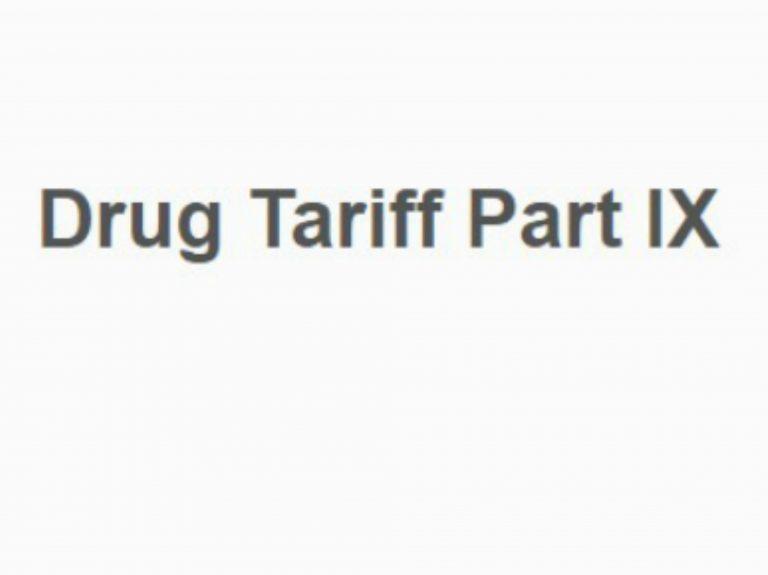 Part IX Industry Drug Tariff Committee Information