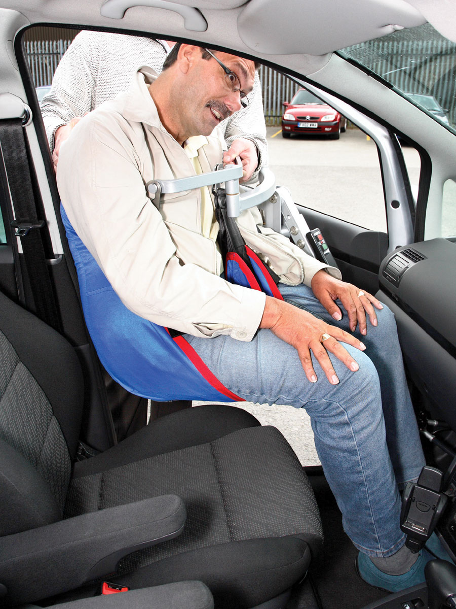 Hoists for Wheelchair Users Getting into a Car