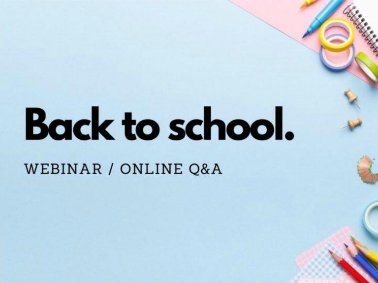 WellChild Back to School Webinar and Online Q&A 2020