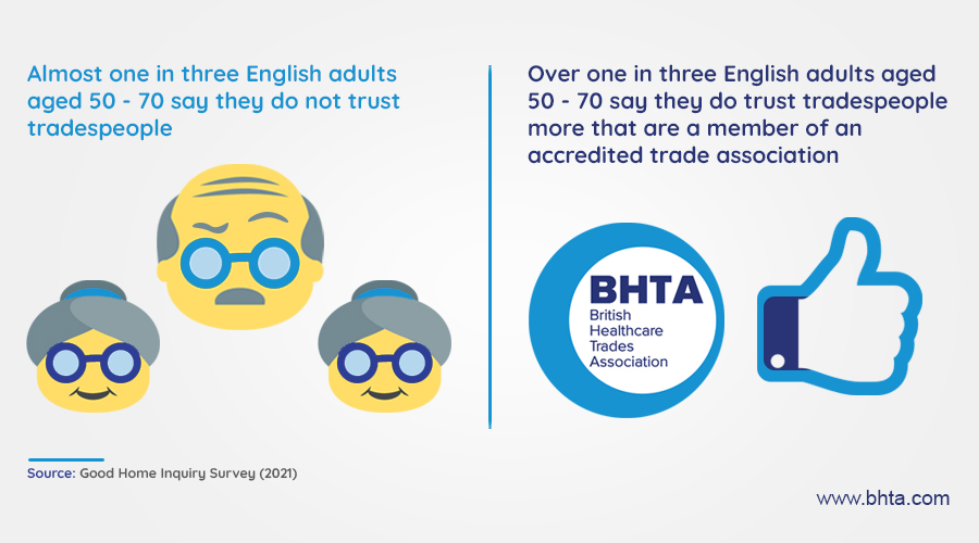 British Healthcare Trades Association urges older people to go ahead with home adaptations by finding its trusted members