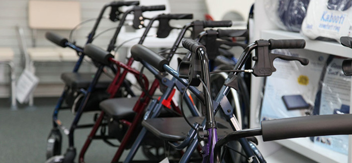 Find a BHTA member - mobility shop displaying rollators